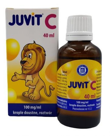 Juvit C krople doustne 0,1 g/ml 40 ml