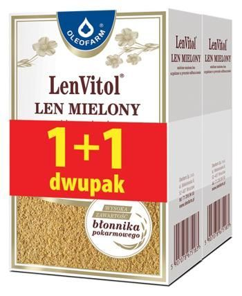 Len mielony DUO PACK 200+200 400g